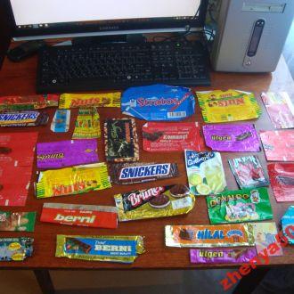 Фантики от конфет 90х (2) МЕГАЛОТ