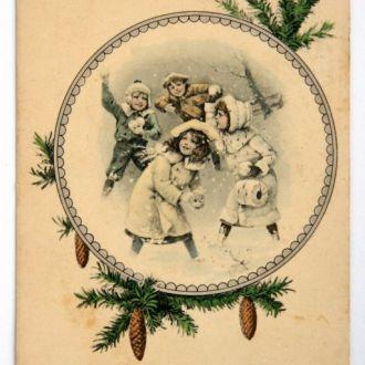 Открытка Рождество Weihnachts 1910-е гг. Германия