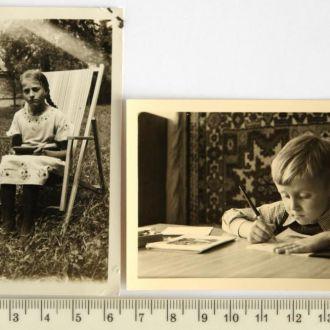 Старые фото Прилежные ученики 2шт сер ХХв Германия