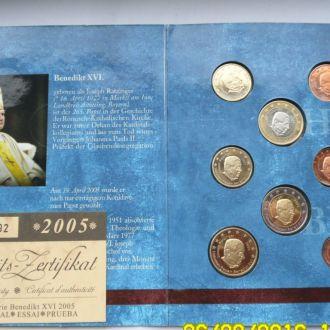 Ватикан 2005 набор 8 монет биметалл ПРОБА ПРУФ