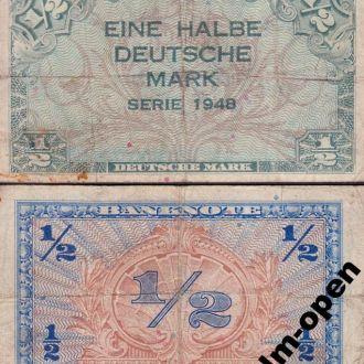 Germany / Германия - 1/2 Deutsche Mark 1948 Ro.230