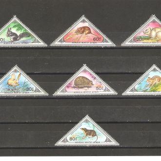 Фауна  Монголия 1983г.  MNH  (см. опис.)