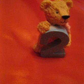 игрушка сувенир мишка медведь цифра два фигурка