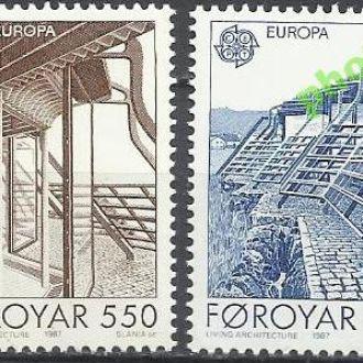 Фареры 1987 Европа СЕПТ архитектура 2м.**