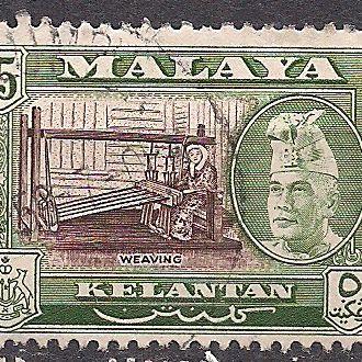 БРИТ. КОЛОНИИ MALAYA KELANTAN 1963 44 ЕВРО