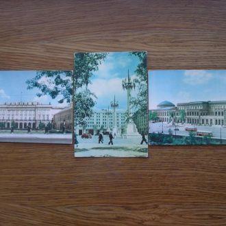 Варшава открытки 3 шт Польские открытки