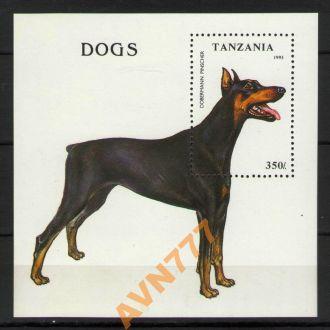 Танзания 1993 Собаки Доберман Пинчер блок **