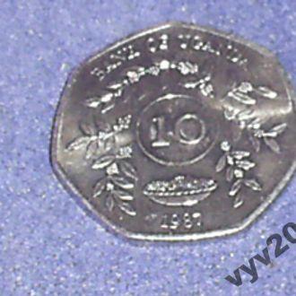 Уганда-1987 г.-10 шиллингов