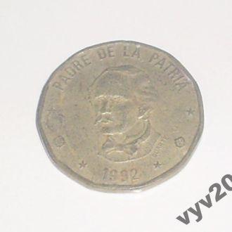 Доминикана-1992 г.-1 песо