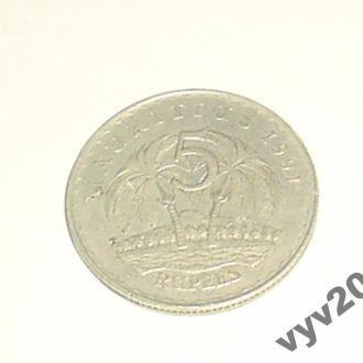 Маврикий-1991 г.-5 рупий