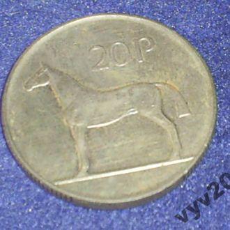 Ирландия-1988 г.-20 пенсов (лошадь)