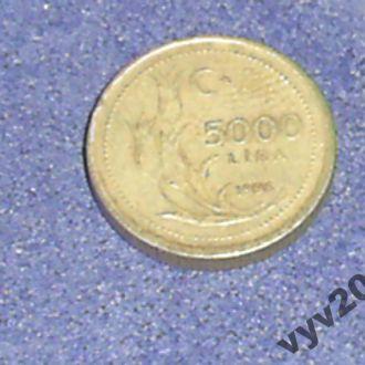 Турция-1996 г.-5000 лир