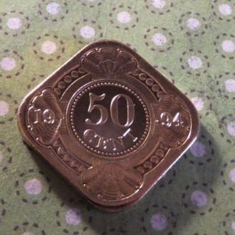 Антилы монета 50 центов 1994 год Антильские остров !