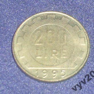 Италия-1995 г.-200 лир