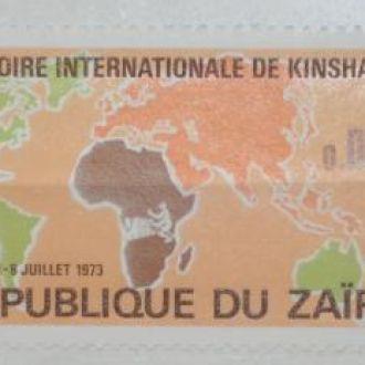 Заир Карта 1973
