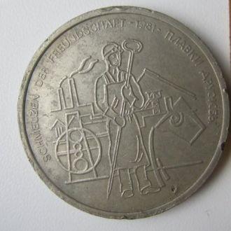 Медаль настольная Сталевар 1981 плавки дружбы
