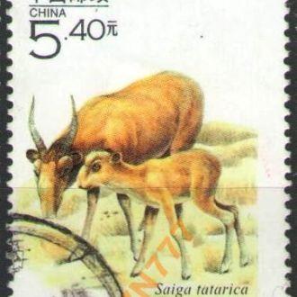 Китай 2000 Фауна Антилопа Сайгак