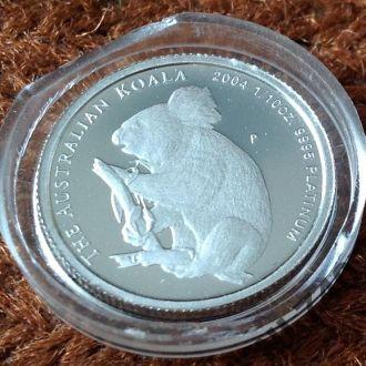Коала 2004 15 $ Австралия платина тираж 500 штук