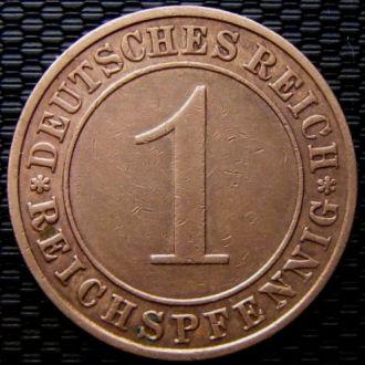 Германия 1 рейхспфенниг 1929 год (A)