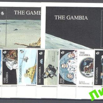 Гамбия 1990 Луна космос ** о