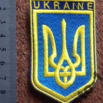 ТРЕЗУБЕЦ нашивка ТРИЗУБ большой с надписью Украина