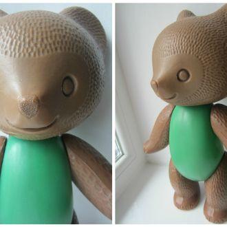 Медведь мишка на резинках редкий 37см игрушка СССР