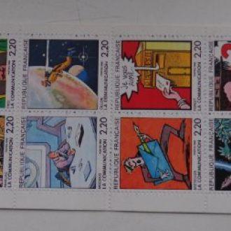 Франция, 1988г.,карнет-тетрадка по Михель№12-9,5эв