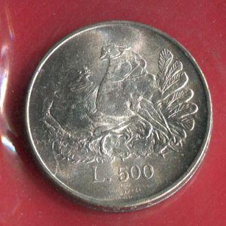 Распродажа! Сан Марино 500 лир1974 UNC Голуби
