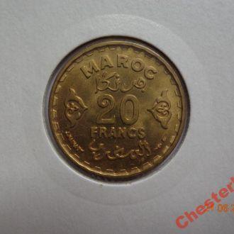 Французское Марокко 20 франков AH1371 (1952) СУПЕР состояние