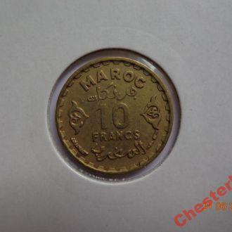 Марокко 10 франков AH1371 СУПЕР состояние