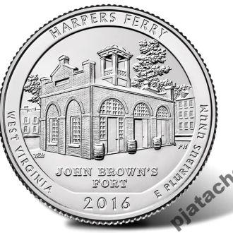 25 центов США Harpers Ferry 2016  Харперс Ферри