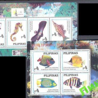 Филиппины 1996 морская фауна рыбы кораллы **