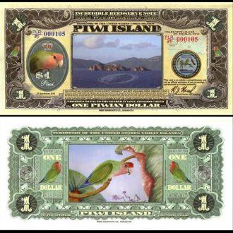 PIWI ISLANDS / О-ва Пиви - 1 Piwian Dollar 2014