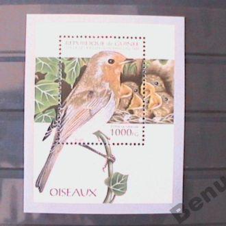 Гвинея 1995 Птицы БЛ