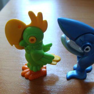 папугай и акула