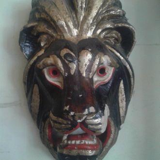 Настенная маска Лев гипс