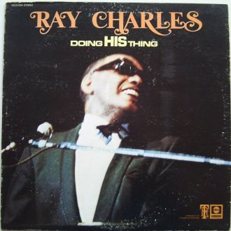 RAY CHARLES   Doing His Thing LP  VG++/EX-