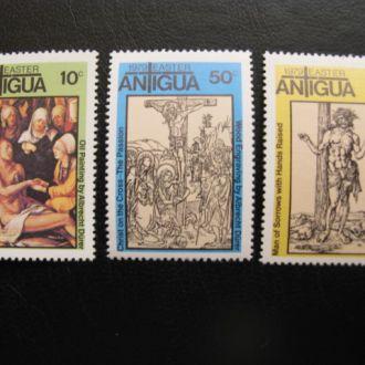 АНТИГУА 1974 ЖИВОПИСЬ ИСКУССТВО РЕЛИГИЯ ИИСУС
