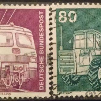 марки Германия транспорт поезд трактор с 1 гривны