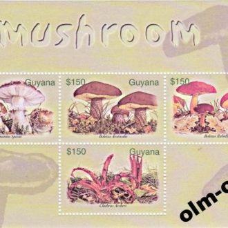 Guyana / Гайана - Грибы блок 2003 OLM-OPeN
