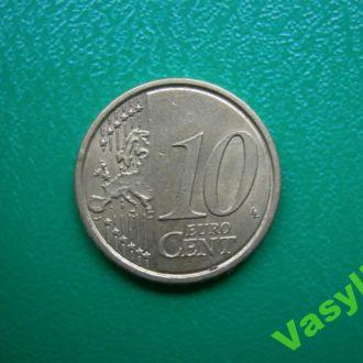 Италия 10 евро центов 2008 г.  Сохран!!!