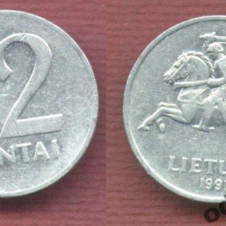 Литва 2 цента 1991 Доевровый период №1