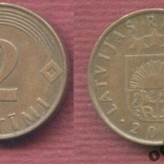 Латвия 2 сантима 2000