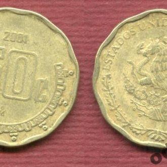 Мексика 50 сентаво 2001