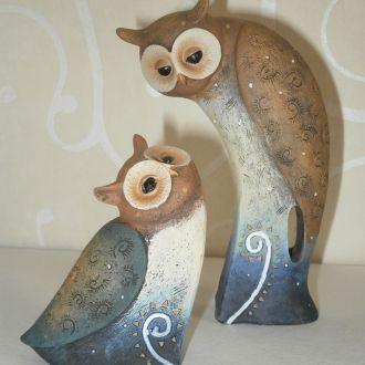 Статуэтки две совы. Formano.