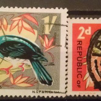 марки Нигерия фауна птицы с 1 гривны