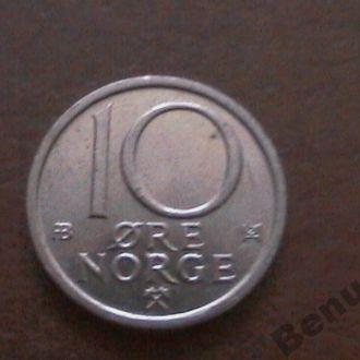 Швеция с 1 грн 10 Эре 1976