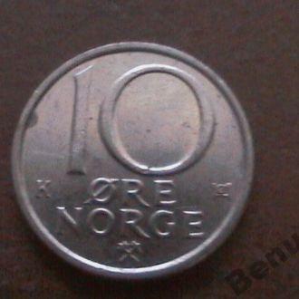 Швеция с 1 грн 10 Эре 1988