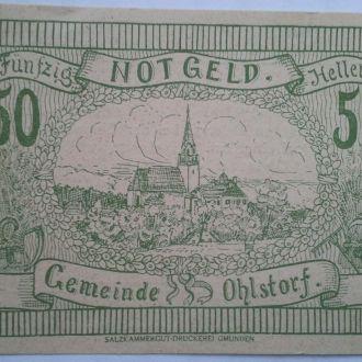 Нотгельд Австрия Ohlstorf 50 геллеров
