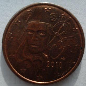 Франция 5 евро центов 2010